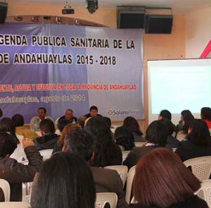 """""""Presentan propuesta de Agenda Pública Sanitaria de la provincia de Andahuaylas 2015 – 2018"""""""